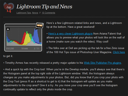 Lightroom Killer tips feature