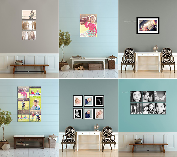 Hall Wall Display Template