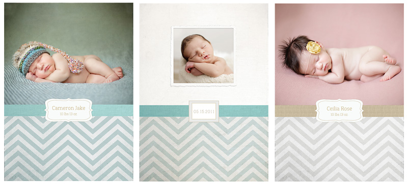 Chevron Burlap 5 7 Birth Announcements Ariana Falerni Design – Free Baby Announcement Templates