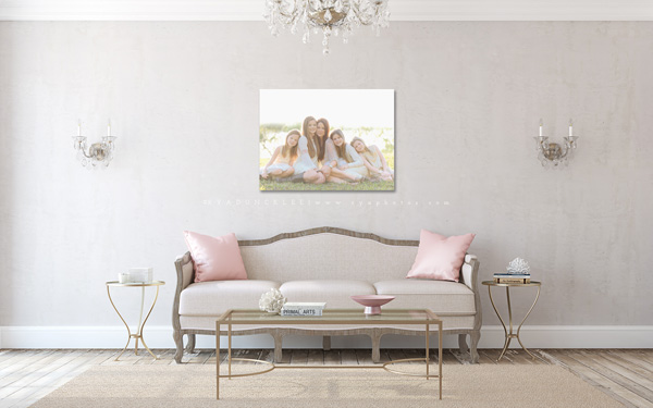 Wall display guides & virtual room scenes for photographers and fine ...