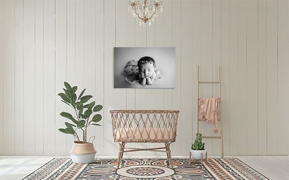 Bohemian baby room scenes