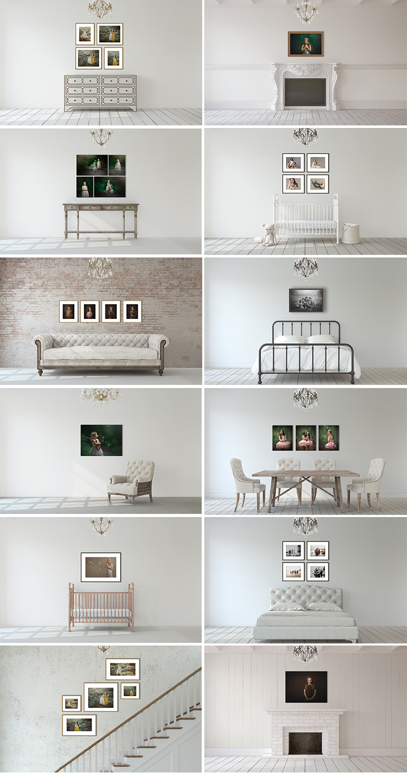 Romantic Simplicity Photography Room Scene