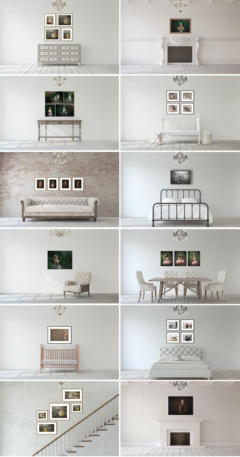 Romantic Simplicity Photography Room Scene