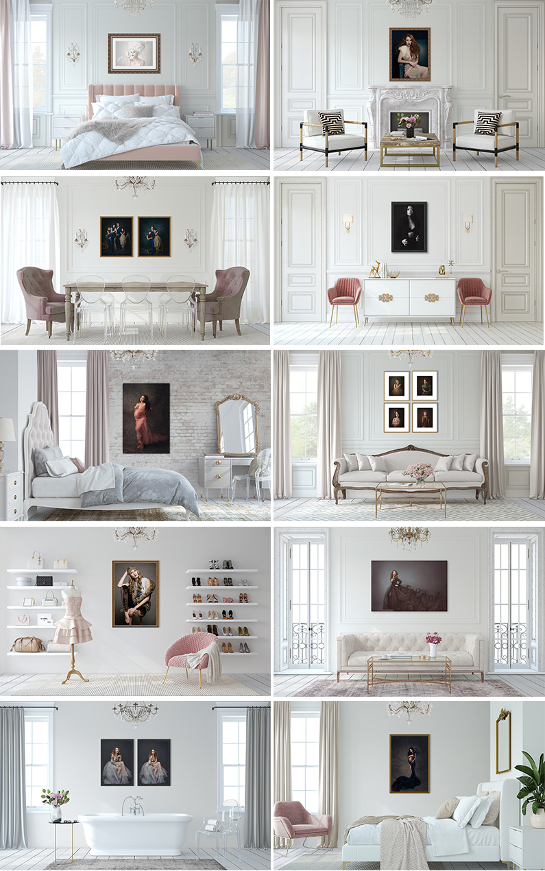 Feminine High End room mockups