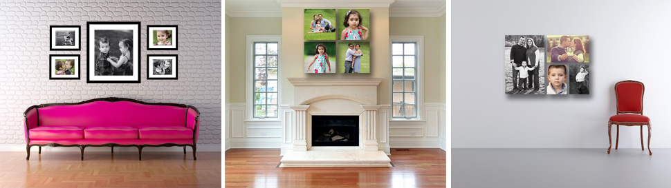 wall display canvas frame guides photography