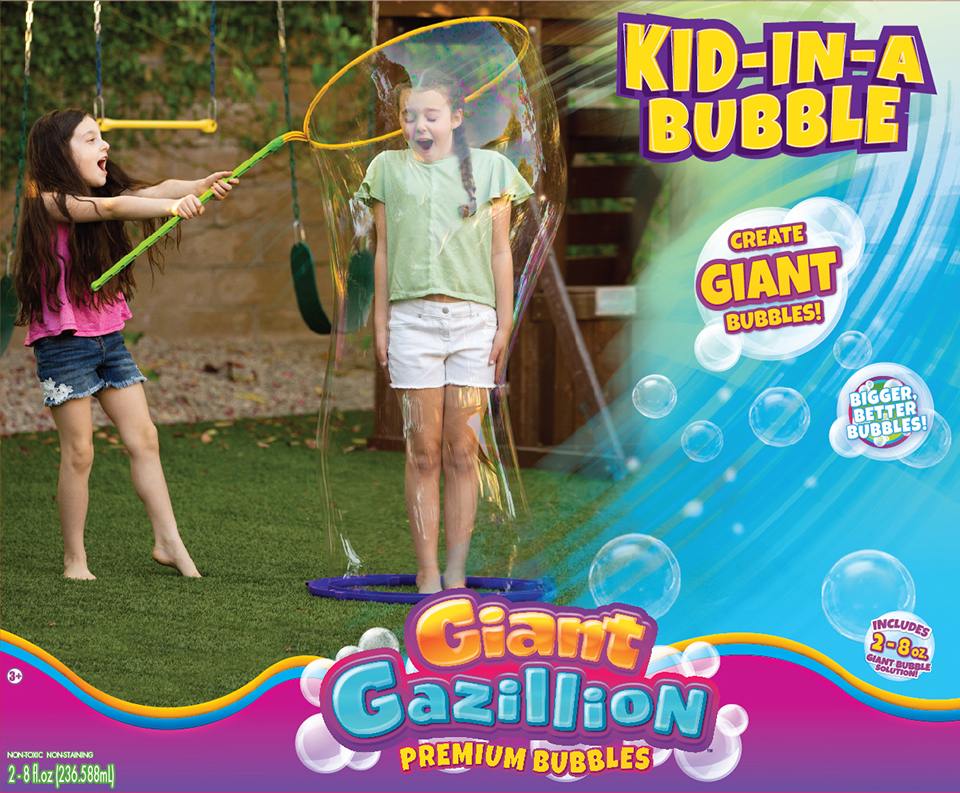 Kid in a Bubble Toy Packaging