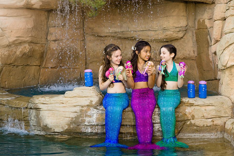 BFF-mermaids toy commercial photoshoot